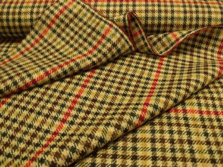 100% Wool Tweed Gun Club Check Fabric AZ61
